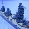 1/700アオシマプラモデル戦艦山城が完成