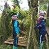 森のお遊び会9月「子ども村を作ろう」