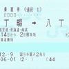 連続の連絡乗車券(2)・JR東日本-京浜急行電鉄 八丁畷発着