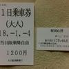 No.130 【冬旅2018】くま川鉄道「1日乗車券」