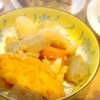 さつま揚げ煮物、鯖とはんぺんバーグ、竹輪かき揚げ