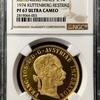 オーストリア1887年クッテンベルク記念金貨リストライクPF67UCAM