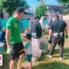 春日墓地の清掃活動