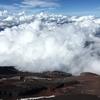 富士山頂は一面靄の中だった