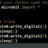 micro:bitで矩形波を出力してみる(その2:Pythonエディター)