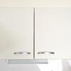 キッチン収納公開2。棚の中を前後で区切って使いやすく