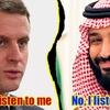 フランスのマクロン大統領、サウジアラビアのムハンマド皇太子に詰め寄る!/ プーチン大統領とムハンマド皇太子はガッチリ握手!