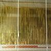 アヤ織りと平織を同時に織る