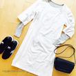 休日2着のワンピースコーデ【ドットと白で。あると嬉しい定番服】