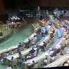 9/21安倍晋三、国連総会の演説、ガラガラ 「必要なのは対話ではない圧力です」