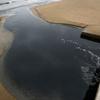 海水浴場にあふれた下水がそのまま