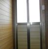 トイレ増築8(二枚折り戸の改造と組立02)