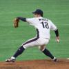 角度のあるフォームでフォークを武器とする 日本製鉄広畑 宮田 康喜選手 2017年解禁済右腕投手