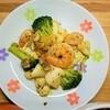 【ご飯に合うおかず】シーフードミックスのペペロンチーノ風炒めの作り方。