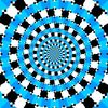 錯視・らせん状渦巻きに見える円が並んだ画像