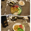 ウニ丼と今日の弁当。