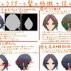 キャラクターの髪の特徴の捉え方