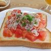 週末の朝食 vol.1 トマトしらすトースト・羊羹バターサンド