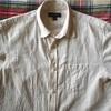 アイロン掛け不要なお気に入り夏服。バナリパ(Banana Republic)のコットンリネン半袖シャツ