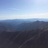 西日本一高い紅葉スポット石鎚山頂で笛を吹く