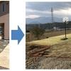 玄関へのアプローチを枕木&芝で(その4)