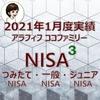 【NISA】楽天証券のNISA3つの口座2021年1月度実績