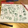 『絵本をつくるDay7』主人公の少年を描く