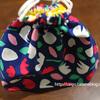マチ付き巾着袋(裏地付き)の作り方(ランチバッグ、コップ入れ巾着袋、マチ付きナップサック)(高齢者の暇つぶし・入院中・裁縫)(ハギレで作れるもの・小物)