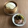 花捲と煮豚と高菜