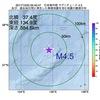 2017年10月20日 00時42分 日本海中部でM4.5の地震