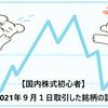 【国内株式初心者】2021年9月1日取引した銘柄の記録