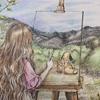 『森の少女ひと休みしても大丈夫』より「美しい風景とともに」の塗り絵