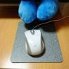 マウスパッドを使わず光学式マウスを使ってたらイライラがつのった(-_-メ)