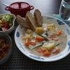 ブログ1周年!塩鮭シチューとラタトゥイユにバゲットを添えて(^-^)