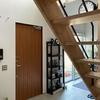 趣味の自転車を眺めながら生活できる、土間のある家