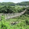 竹田市原尻の滝と白水ダム