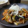 ブリと茄子の甘酢あんかけとキャベツの味噌汁と玄米ごはん 41