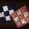 【ネット編み】に挑戦 ズパゲッティや100均Tシャツヤーンで作るコースター② プラスチックキャンバス編み方と材料