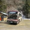 4月なのに雪!京都バス狭隘路線 広河原行き乗車