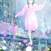 森の中を歩く女の子とQuick Japan