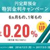 住信SBIネット銀行で、円定期預金キャンペーンを実施中です!金利0.2%と高金利です!!