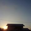 今朝の景色