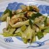白菜と味付け鶏肉の炒め物