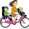 お母さん、子供を自転車に乗せて信号無視は・・・