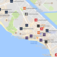 ハワイの外資系ホテル分布をGoogleMaps地図でみる。IHG/SPG/Marriot/Hilton/Ritz-Carlton/ACCOR/Best Western/Hyatt。