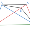 第1巻命題39 同底上の等しい三角形