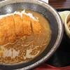 カツカレー丼&蕎麦