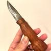 マタギナガサの仕込み刀?柄を自作したモーラナイフを修正して「子持ちシシャモ」みたいになりました。