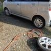 スタッドレスタイヤに交換 来年の春には Exchanging for studless tires