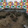 土地を分断する擁壁の解体工事
